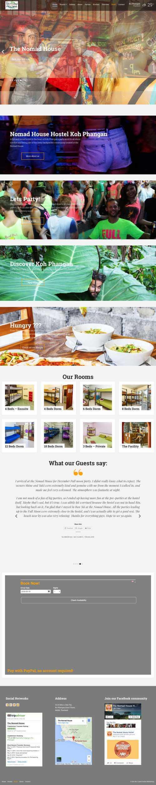 The Nomad House -i-land online marketing Web development thailand